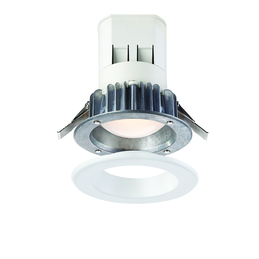 Easy Up 4 in. 2700K Warm White 93 CRI LED Recessed Light with J-Box with Interchangeable Trim Ring (No Can Needed)