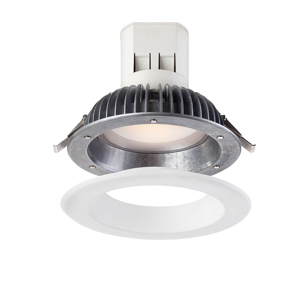 Easy Up 6 in. 2700K Warm White 91 CRI LED Recessed Light with J-Box with Interchangeable Trim Ring (No Can Needed)
