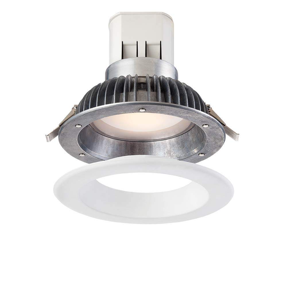 Easy Up 6 in. 3000K Warm White 93 CRI LED High Ceiling Recessed Light with J-Box with Interchangeable Trim Ring (No Can Needed)