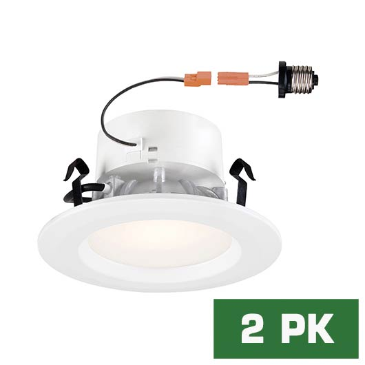 Standard Retrofit 4 in. 3000K White Trim Warm White 92 CRI LED Ceiling Recessed Light (2-Pack)