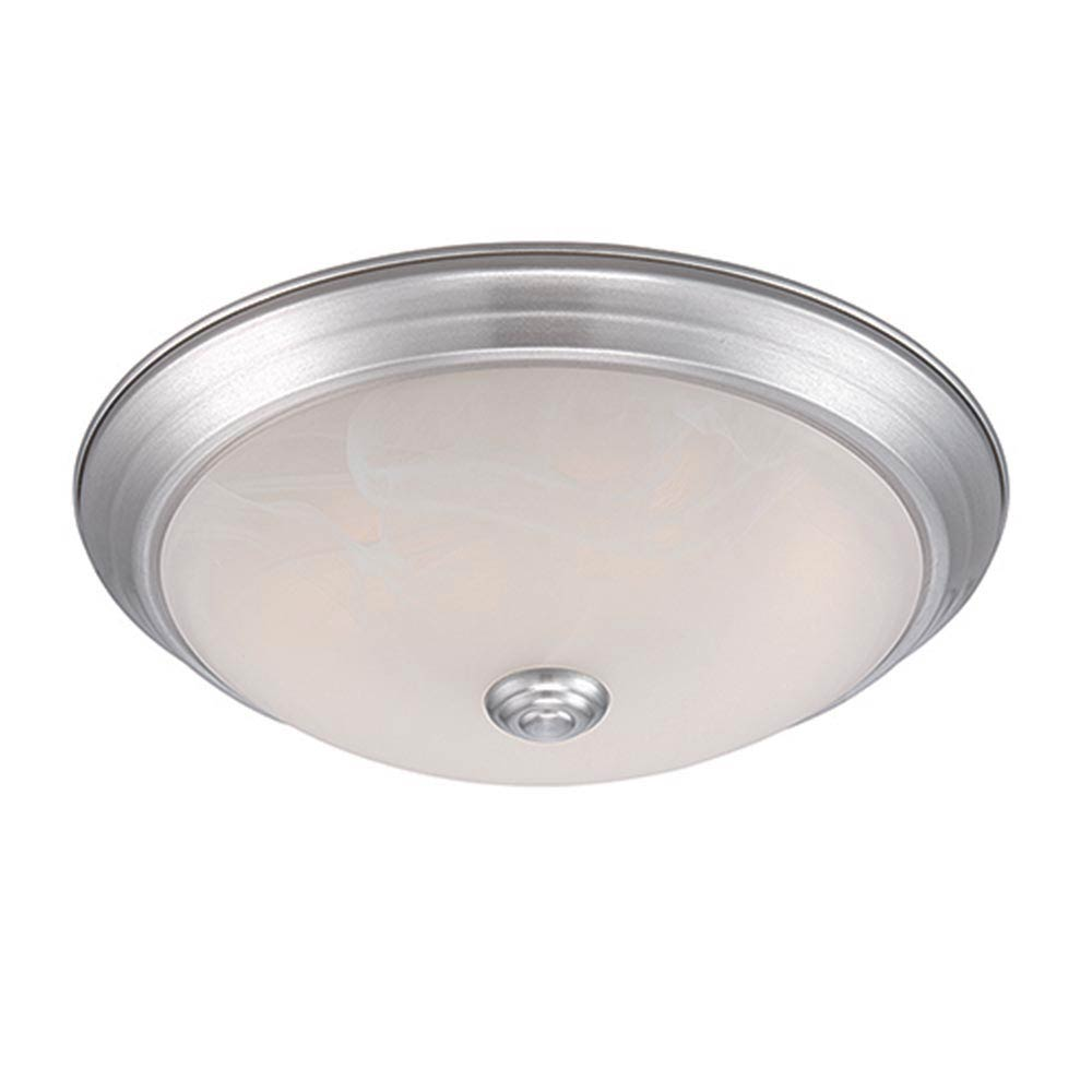 1-Light Satin Platinum LED Ceiling Flushmount