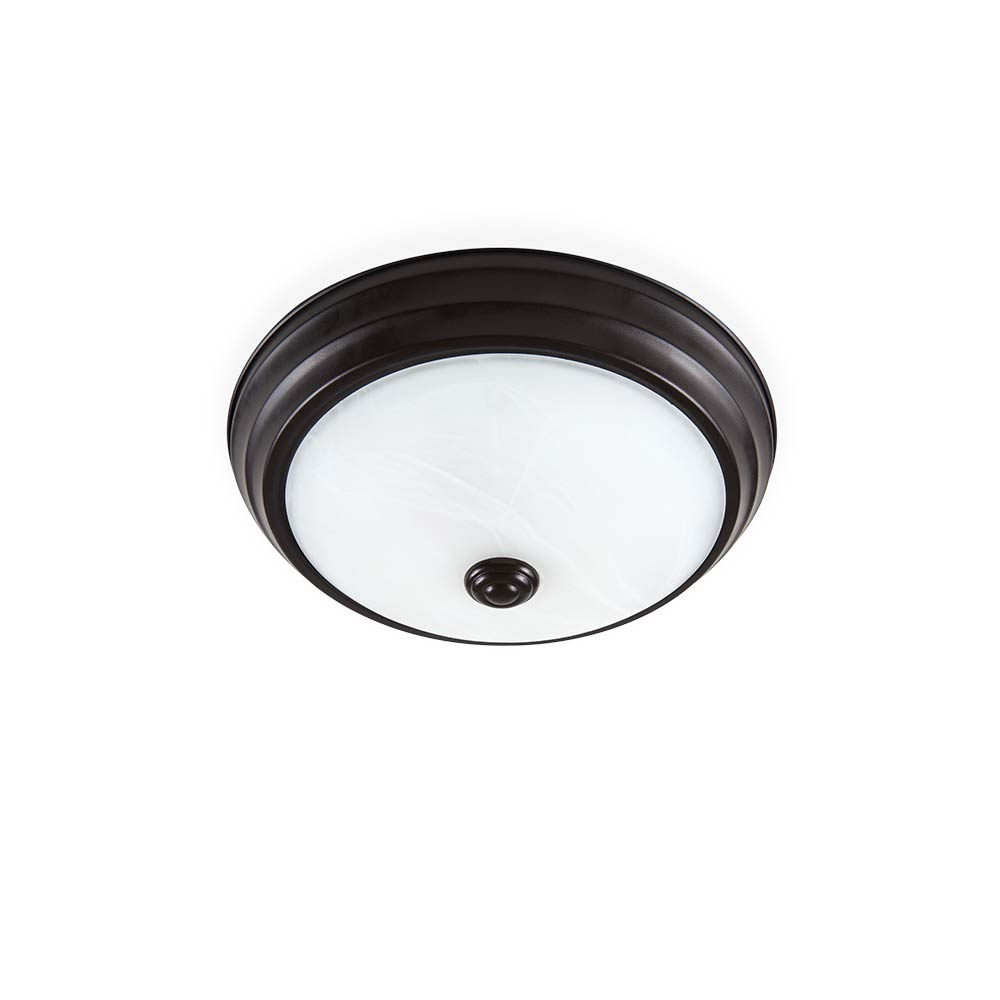 LED 11 in. Satin Bronze Low Profile Ceiling Flushmount