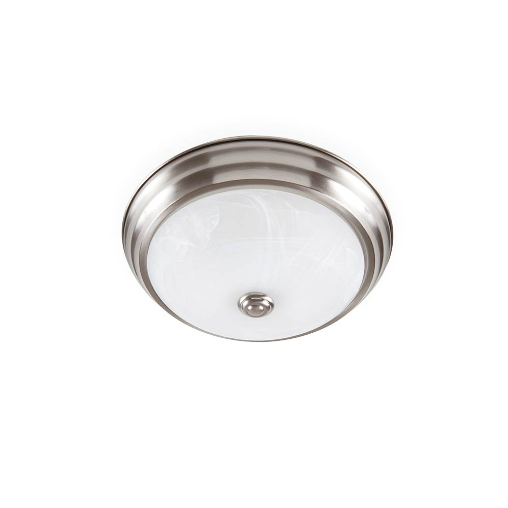 LED 11 in. Brushed Nickel Low Profile Ceiling Flushmount