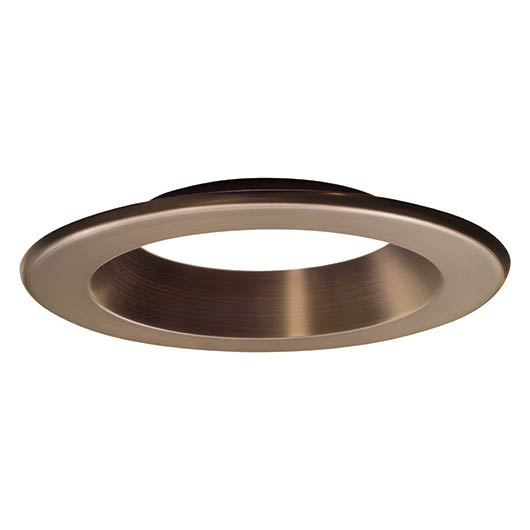 6 in. Decorative Bronze Trim Ring for LED Recessed Light with Magnetic Trim Ring